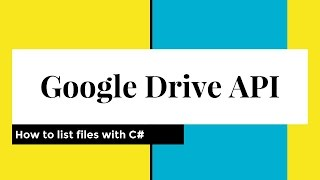 Using Google Drive API with C#