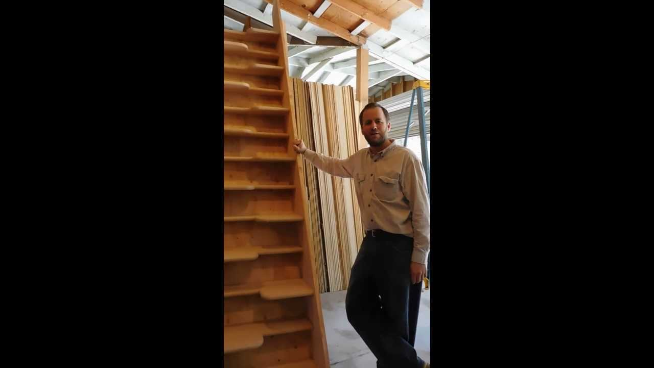 Alternating Tread Staircase Youtube   Wood Alternating Tread Stair   Modern Staircase   Stair Case   Thomas Jefferson   Spiral Staircase   Tread Depth