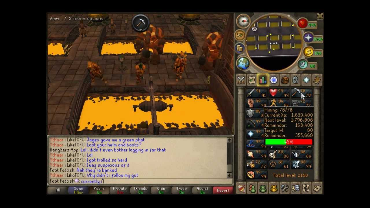 RuneScape ~ Ultimate Lava Flow Mining Guide / Golden ...
