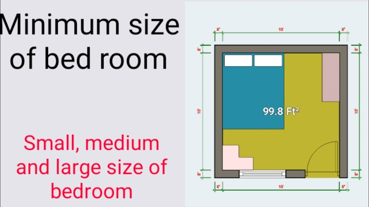 Minimum Size Of Bedroom Standard Size Of Bedroom Civil Site Knowledge Youtube