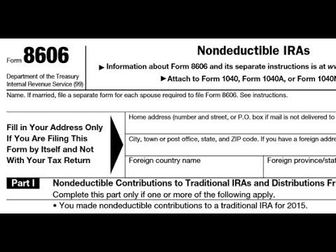 Evil Ira Tax Form 8606 Five Year Club Video 107 Youtube