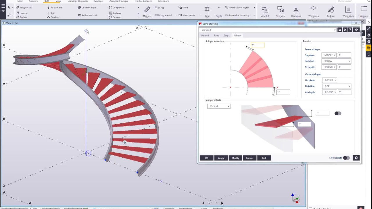 Spiral Staircase 2 Recent Steel Development In Tekla   Spiral Staircase Design For Tanks   Wrought Iron   Architecture   Handrail   Steel   Stair Railing