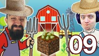Посадили пшеницу, открыли лакиблоки, залезли на скайблок 2 ВЕСЕЛЫХ ФЕРМЕРА 09