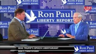 Ron's Tweetstorm - Was Trump's Speech Libertarian? Free HD Video