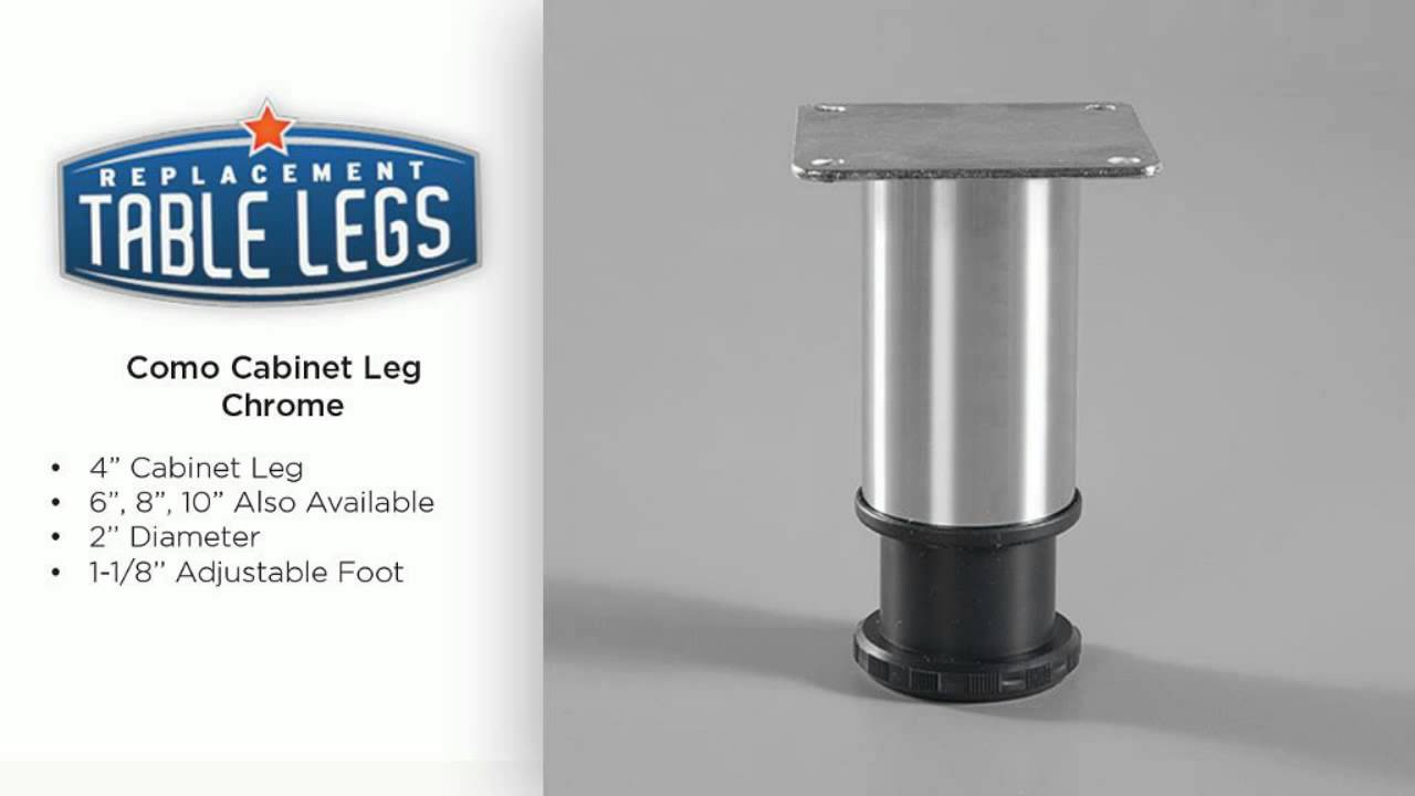 "Furniture Legs Adjustable 4"" como metal cabinet or furniture leg - chrome - youtube"