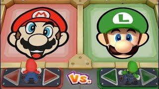 Super Mario Party - Team Mario vs Team Luigi(Very Hard Difficulty)| Cartoons Mee