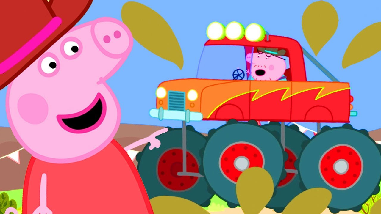 Download Peppa Pig Official Channel | Daddy Pig Drives a Monster Truck!