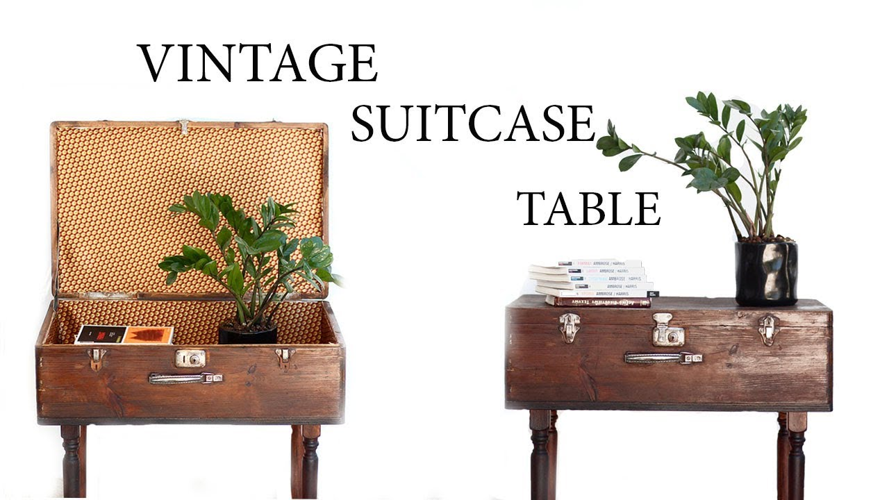 vintage suitcase dressing table furniture at home best