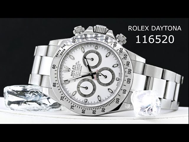Rolex Daytona Cosmograph 116520 White Dial Mens Watch #BigWatchBuyers