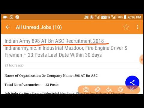 Indian Army 898 AT Bn ASC Recruitment 2018 indianarmy.nic.in Industrial Mazdoor, Fire Engine Driver