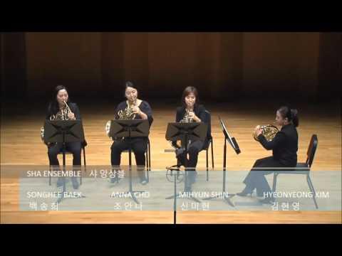 Kerry Turner: Quartet for four Horns No.1 3rd mov - SHA Ensemble / 샤앙상블 / Horn Ensemble