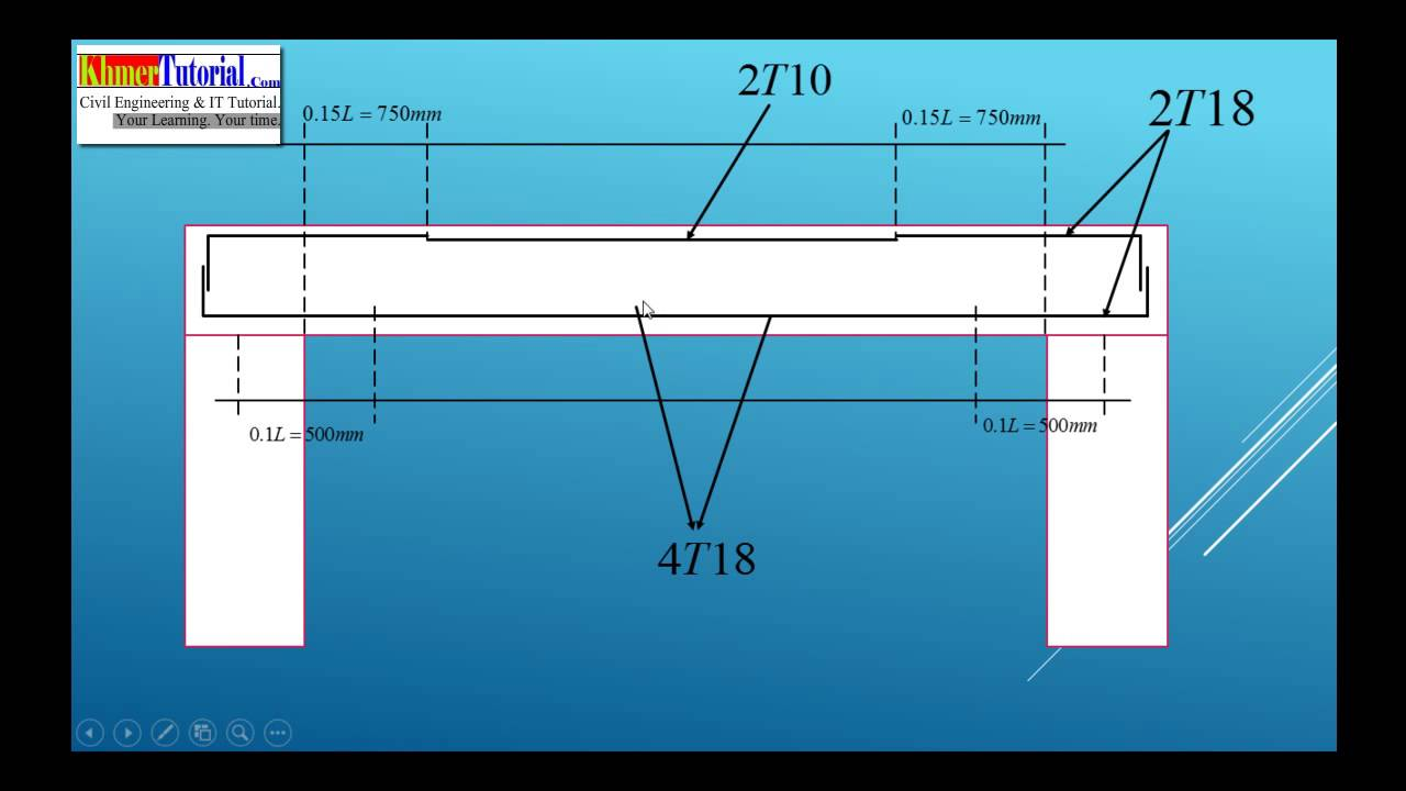 Drawing Beam Section - YouTube