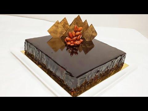 #recette-gateau-royal-chocolat-ou-trianon-#biscuit#mousse-au-chocolat#pralinéحلوة-الشوكولاته-الملكية