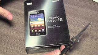 New Samsung Galaxy R i9103 Unboxing and Review