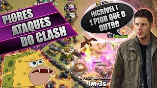 PIORES ATAQUES NO CLASH OF CLANS #3, TENTE NÃO RIR !!