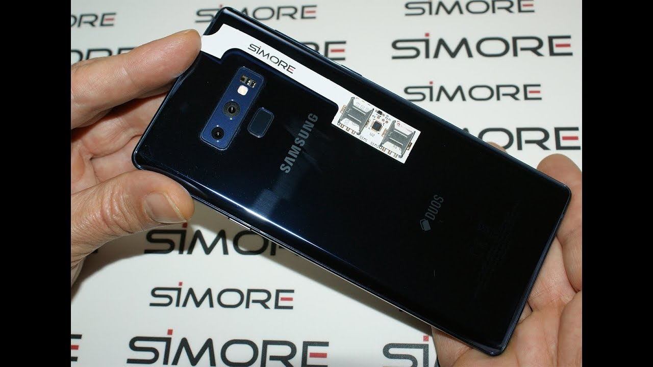 Convert single SIM Samsung Galaxy Note9 to Dual SIM with Speed ZX-Twin  adapter for Android - SIMore