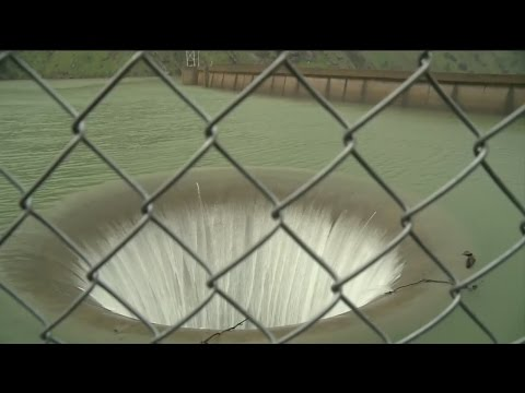 Thumbnail: Water Spilling Into Lake Berryessa Morning Glory Spillway