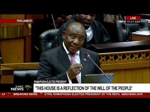Cyril Ramaphosa Presidency Elect Speech