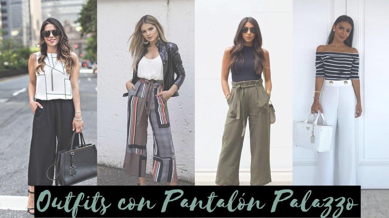 Outfits Con Pantalon Ancho Palazzo Para Lucir Elegante Ropa De Moda 2019 Magicunic Youtube