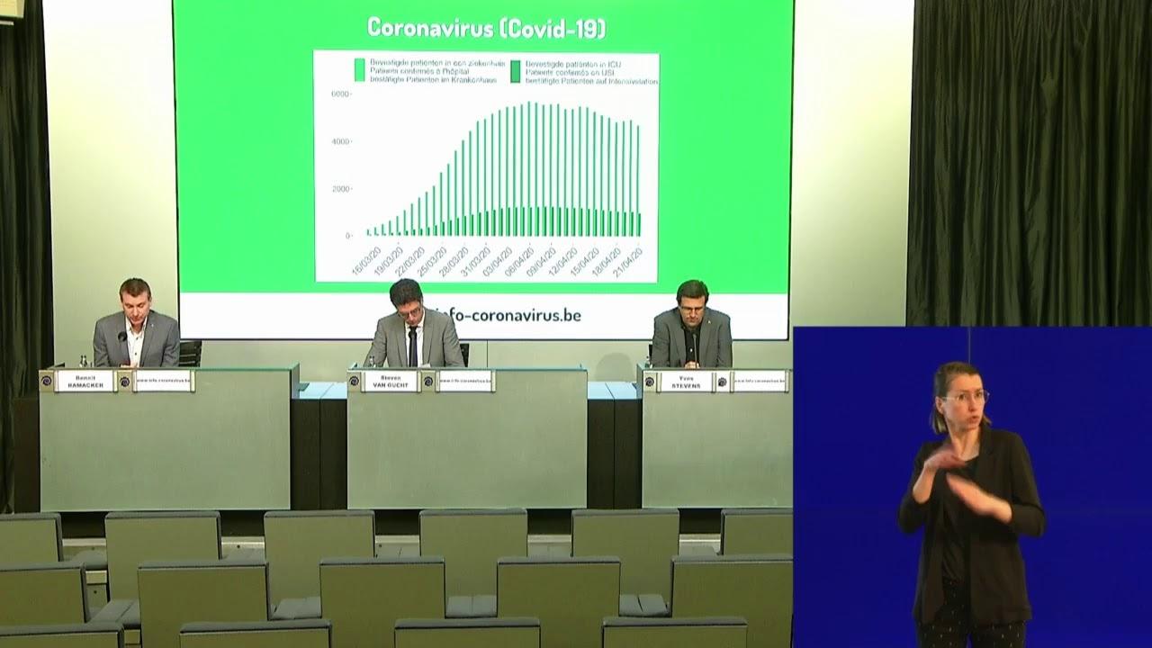 Coronavirus (Covid-19): conférence de presse Update du 22/04/2020