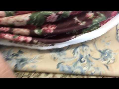 P/Kaufmann-Maroon Floral Drapery Fabric