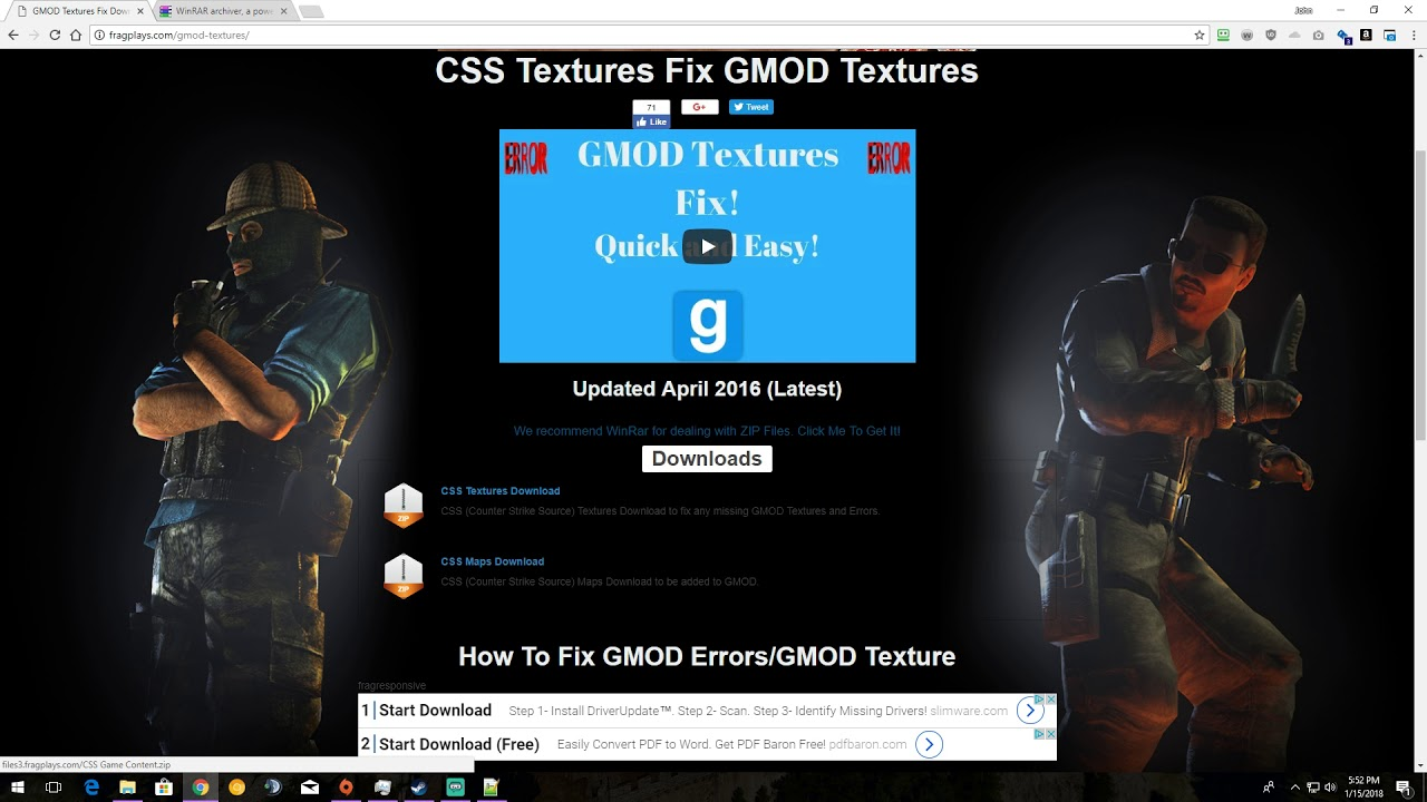 how to install counter strike source textures for gmod mac
