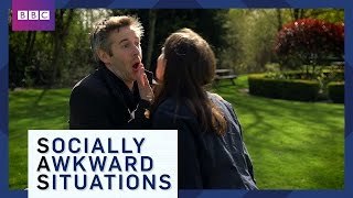 How To Avoid Awkward Greetings - Socially Awkward Situations - BBC Brit