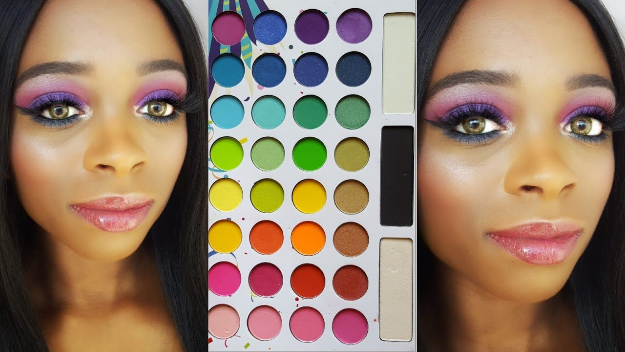 colorful fall makeup tutorial bh cosmetics take me back to brazil palette review youtube. Black Bedroom Furniture Sets. Home Design Ideas