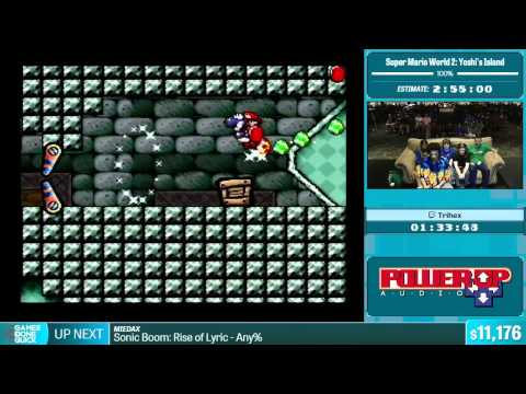 Super Mario World 2: Yoshi's Island by Trihex in 2:42:44 - Summer Games Done Quick 2015 - Part 1