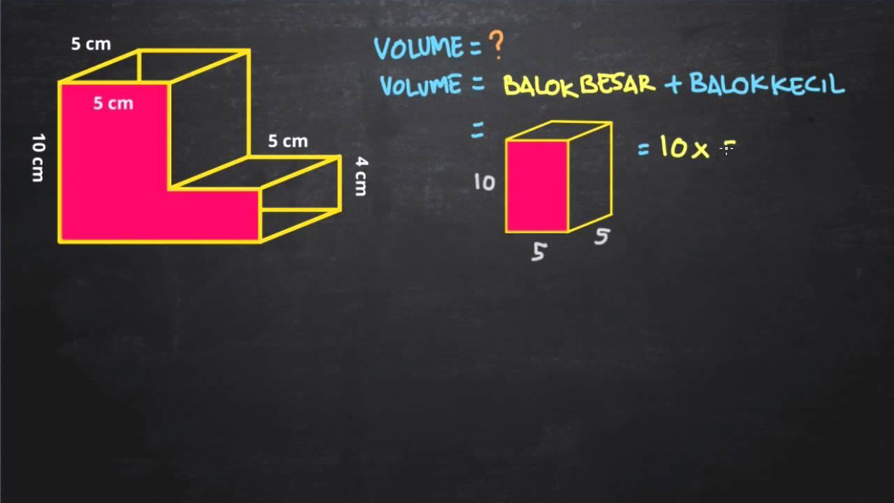 Belajar Menghitung Volume Bangun Ruang Gabungan 2 Balok Youtube