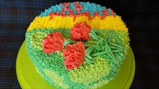 Торт на 23 ФЕВРАЛЯ Торт для МУЖЧИН Оформление торта кремом в домашних условиях Cake decoration