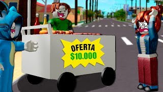 I SELL THE WORLD'S MOST CAROATED HOT-DOGS IN ADOPT ME WITH BEBE VITA, MILO AND ADRI ROLEPLAY ROBLOX JAJAJA