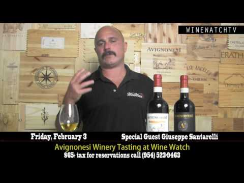 Avignonesi Winery Tasting with Special Guest Giuseppe Santarelli at Wine Watch - click image for video
