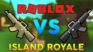 Tactical Rifle vs Assault Rifle Comparaison (fr) L'île Royale (Roblox)