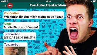 YouTuber reagieren auf ConCrafters Pizza! 🍕😂