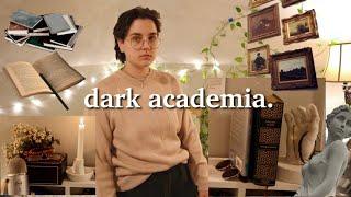 i made my room dark academia (& struggled)