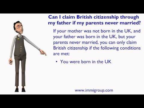 Can I claim British citizenship through my father if my parents never married?