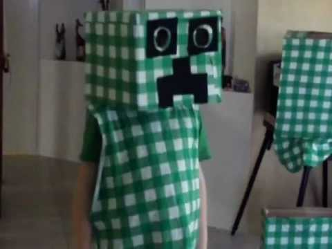 How To Make Your Own Minecraft Creeper Costume Part 2 Youtube