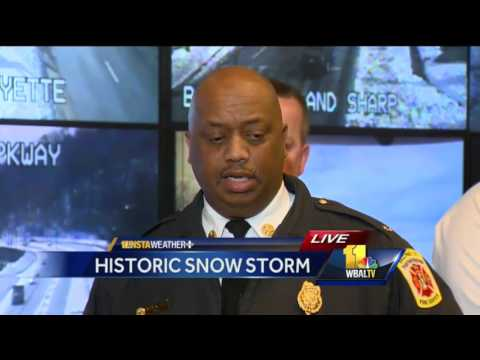 Baltimore provides update on snow removal efforts