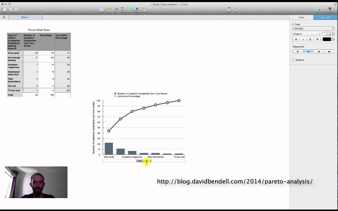 Make A Pareto Chart Using Apple Numbers Youtube