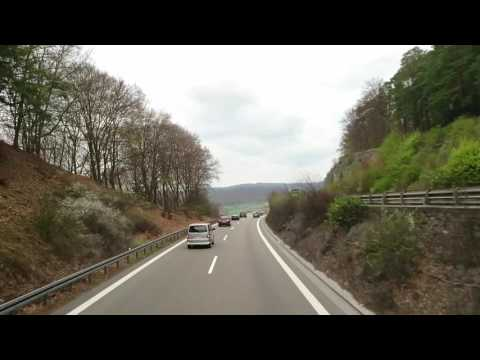 Germany Road, From Munich to Berlin, by Bus