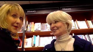 Two women over 50 are windswept in Waterstones Thumbnail