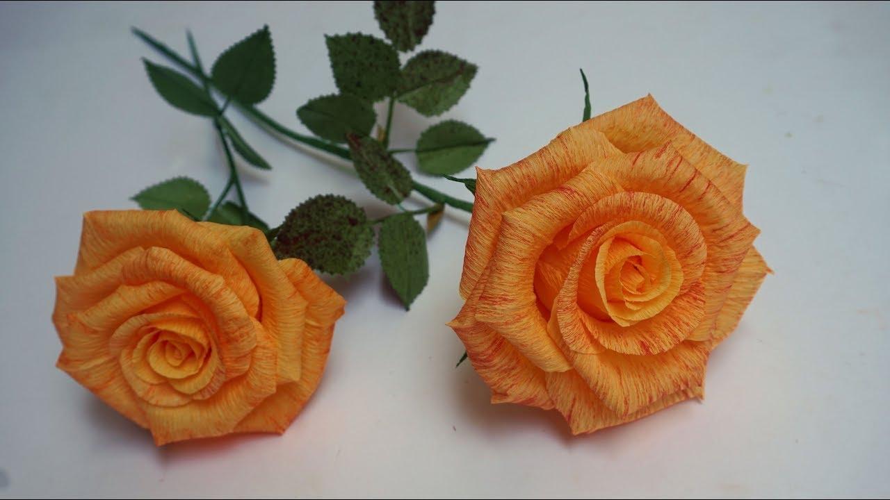 Flor De Papel Crepe Como Hacer Rosa Flores De Papel Hermosas