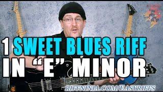 Sweet Blues Riff in E Minor