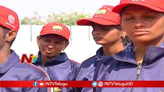 Visually Impaired Students who Participated in Republic Day Parade | Telangana | NTV