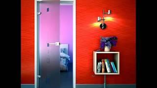 Стеклянные двери и двери для сауны в интерьере