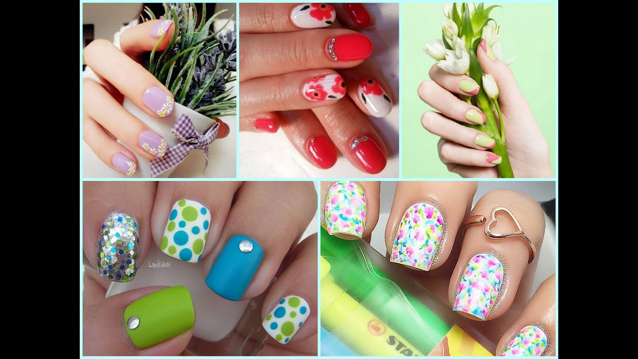 Best Spring Nails Ideas - Floral Spring Nail Art - YouTube