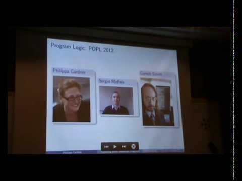 HOPE 2014: Verifying Security Properties of SES Programs - Philippa Gardner