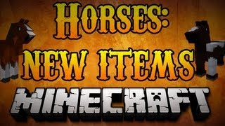 minecraft horses how to use new hay lead saddle items for horses minecraft 1 8