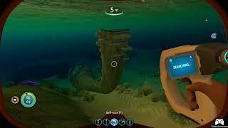 Scuba diving in Subnautica :3
